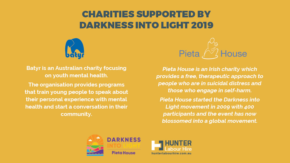 Charities Supported by Darkness Into Light Sydney 2019