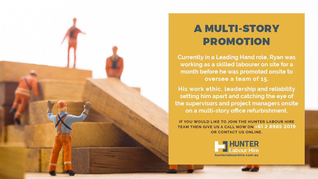 Skilled Labour Hire Promotion Sydney - Ryan Mingo - Hunter Labour Hire