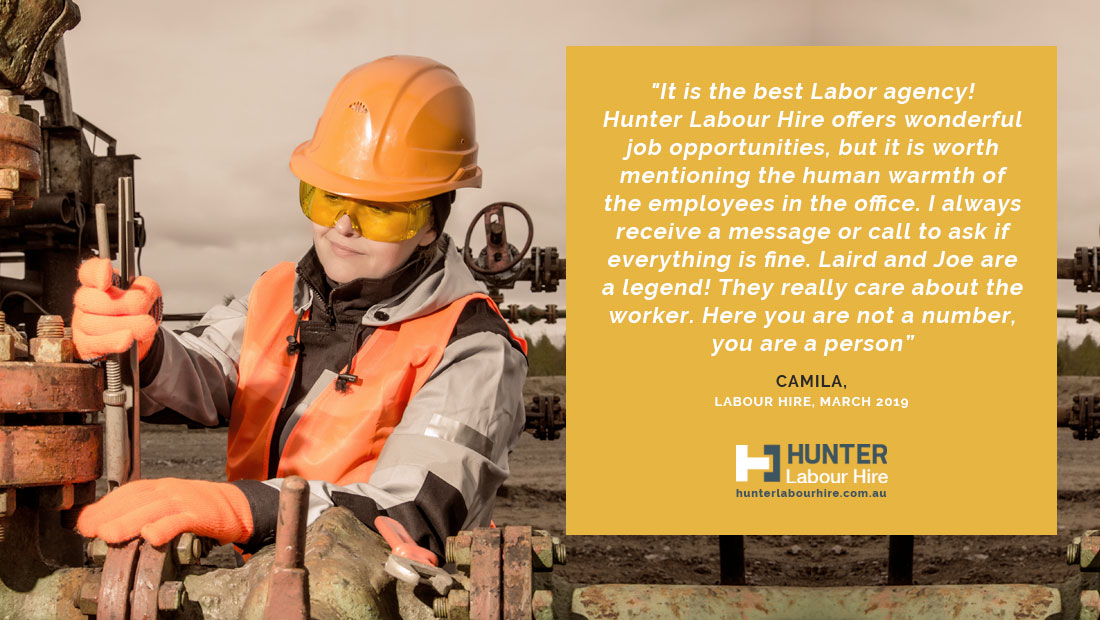 Sydney's Top Rated Labour Hire Firm - Camila Testimonial - Hunter Labour Hire