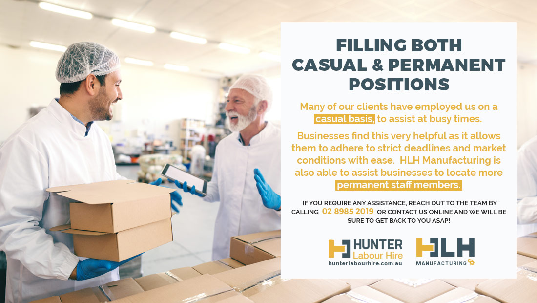 Casual and Permanent Manufacturing Labour Hire Sydney