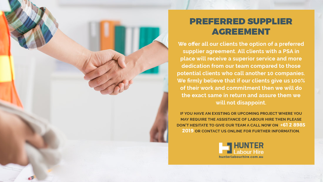 Preferred Supplier Agreement - Hunter Labour Hire Sydney