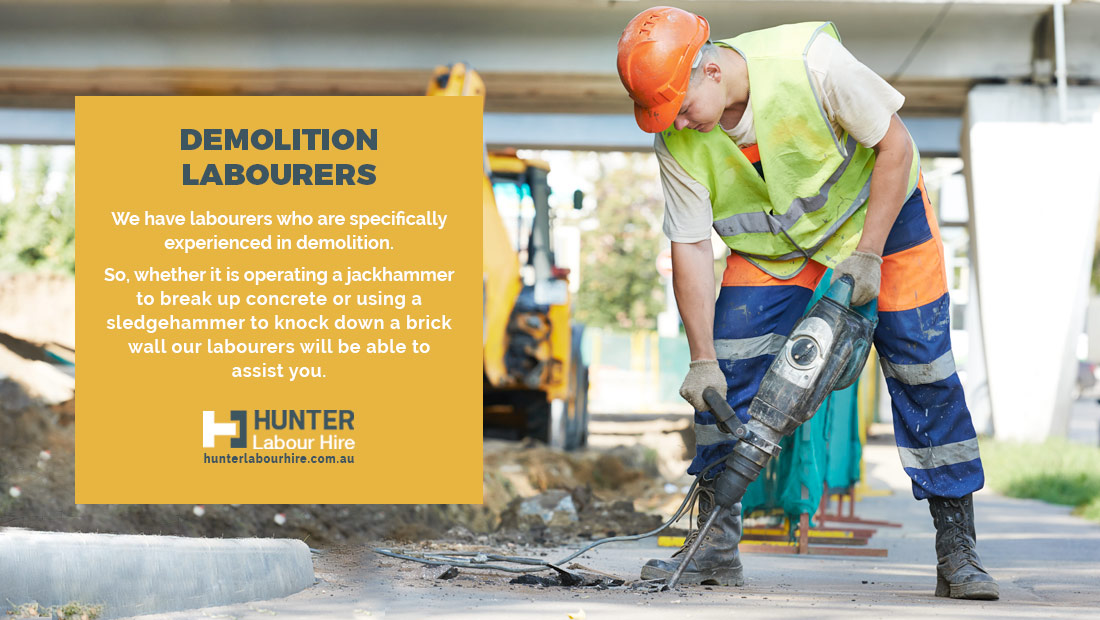 Demolition Labour Hire - Hunter Labour Hire Group