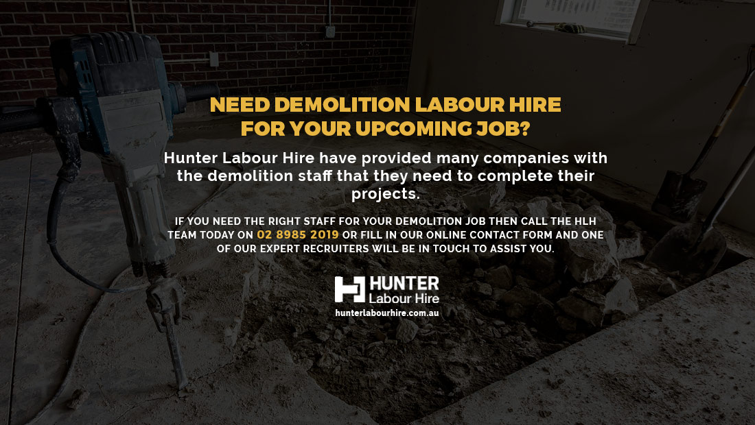Demolition Labour Hire Sydney - Hunter Labour Hire