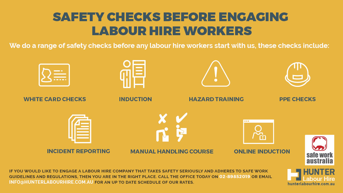 Safe Work Australia Labour Hire Safety Guidelines - Safety Checks