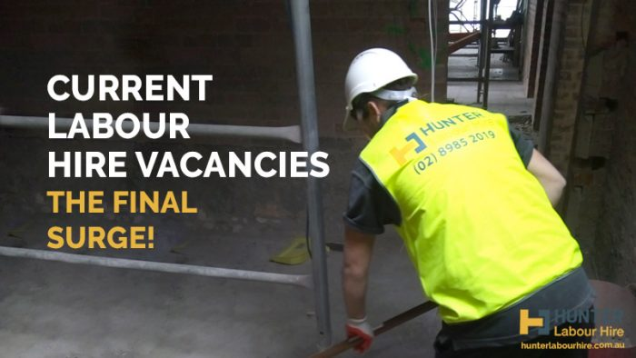 Current Labour Hire Vacancies - Hunter Labour Hire Sydney