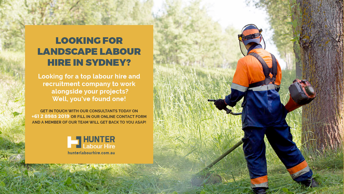 Landscape Labour Hire in Sydney - Hunter Labour