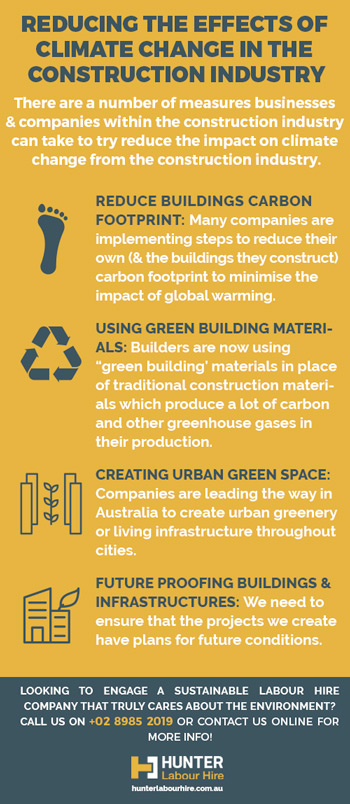 Climate Change Reduction in the Construction Industry - HLH Labour Hire Sydney