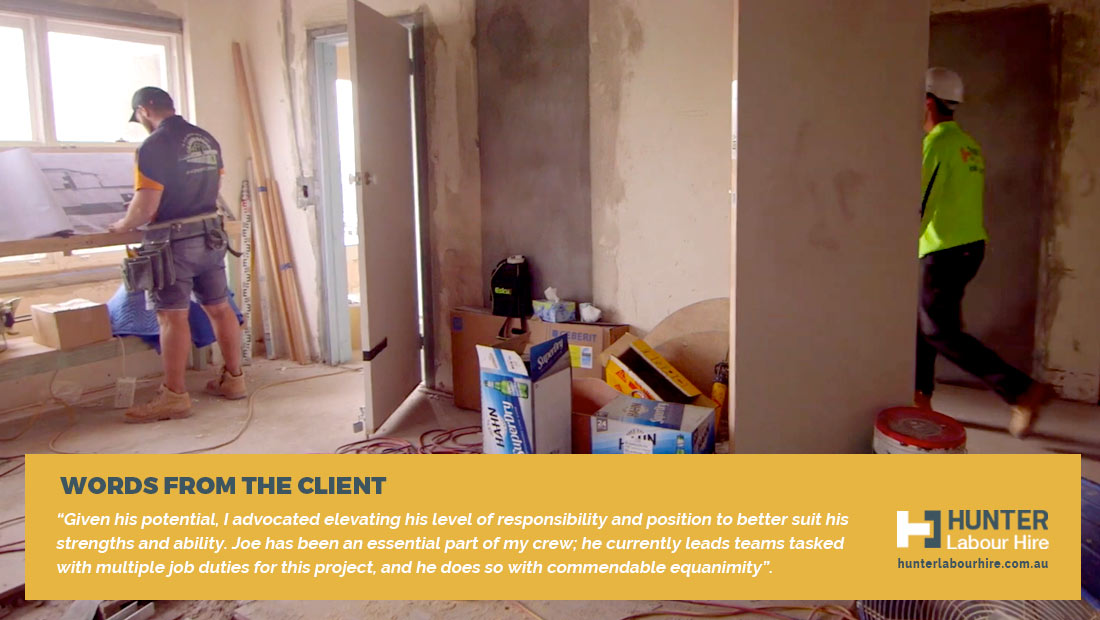 Joe Kellock Client Review - Labour Hire Construction - Sydney