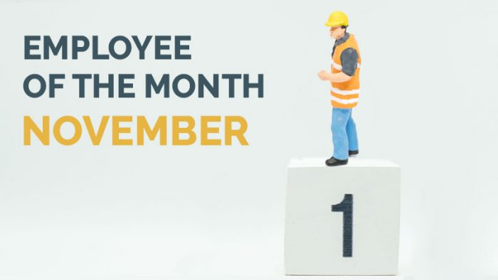 Employee of the Month - November 2019 - Hunter Labour Hire Syndey