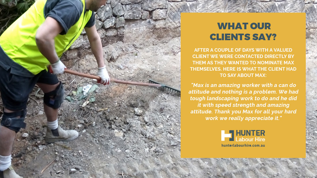 Maxime Barrera - Client Testimonial - Hunter Labour Hire
