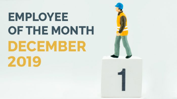 Employee of the Month - December 19 - HLH Group Sydney