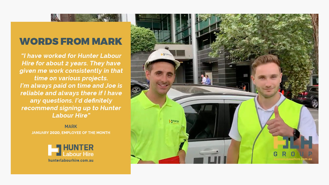 Employee of the Month - Mark Pye - HLH Group Sydney