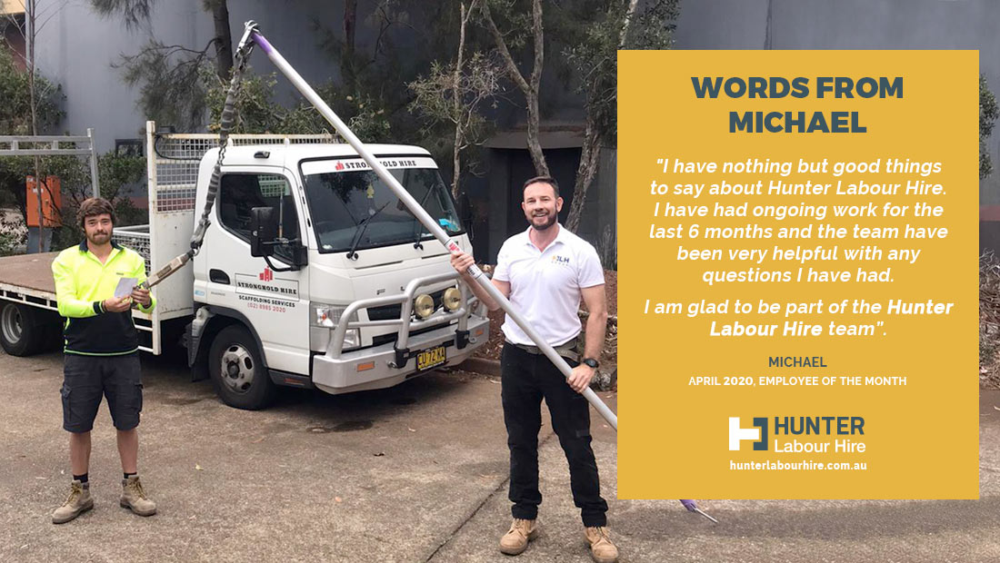 Employee on the Month - Michael - April - HLH Group Sydney