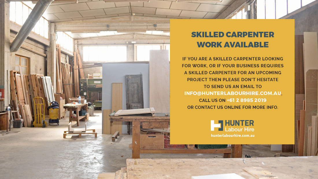 Skilled Carpenter Work Available - HLH Sydney
