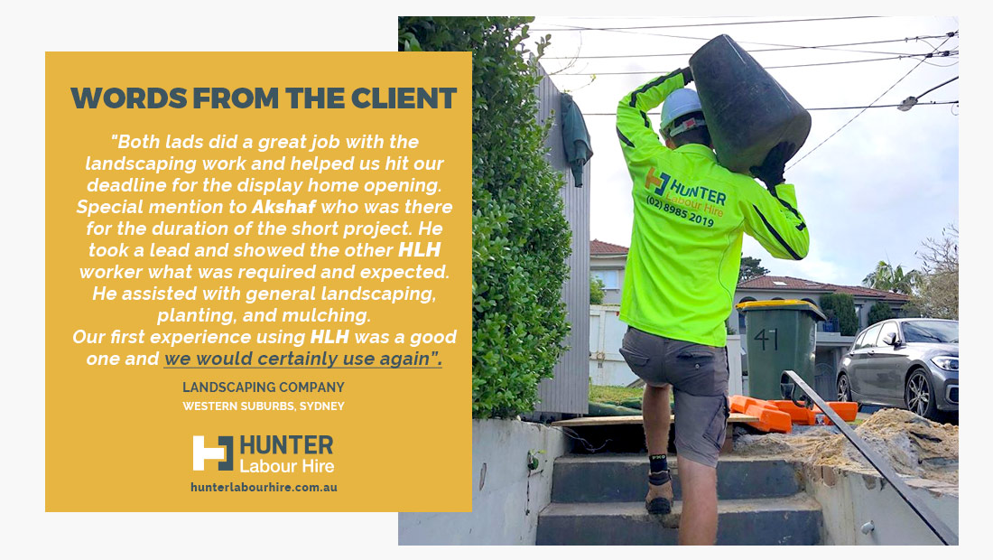 HLH Group - Hunter Labour Hire - Employee of the Month Sydney