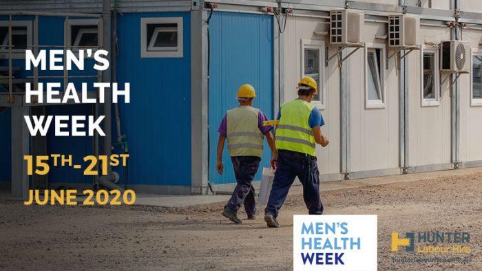 Men's Health Week 2020 - Hunter Labour Hire