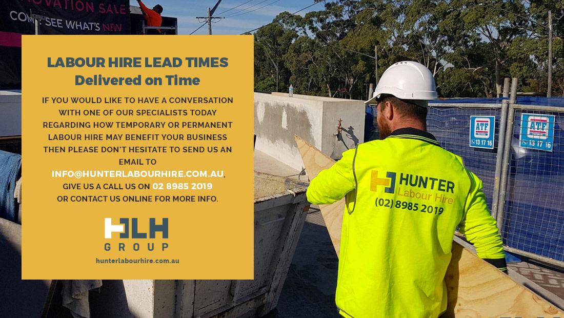 Labour Hire Lead Times - HLH Group - Sydney