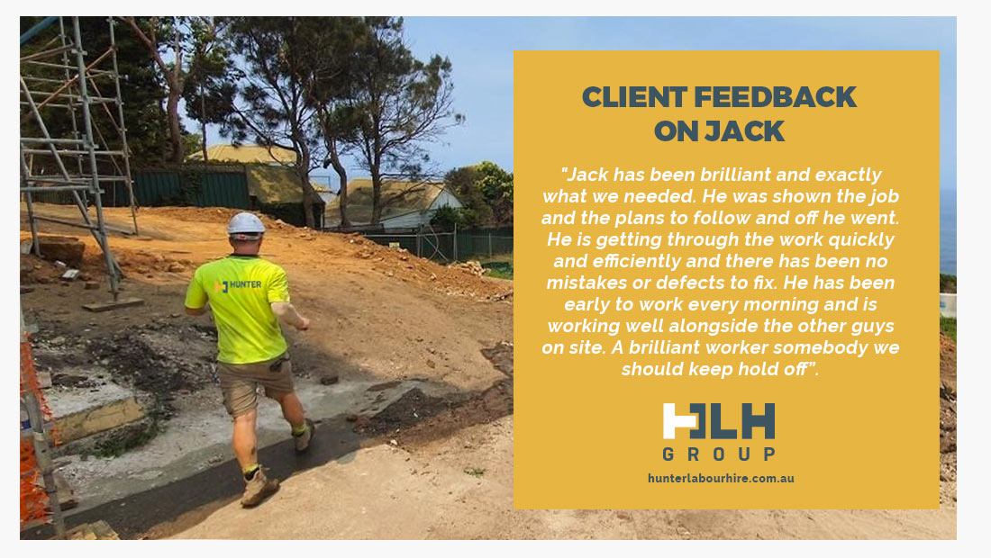Client Feedback Jack Murphy HLH Group - Employee of the Month July 2020 - Sydney