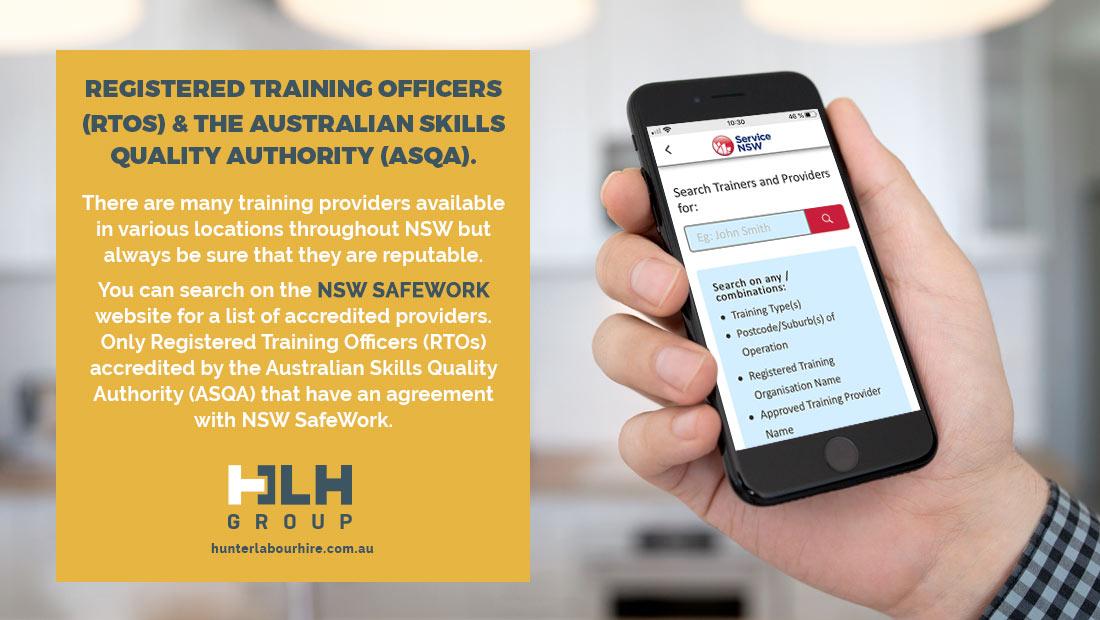 Registered Training Officers - NSW Safework - HLH Group Sydney