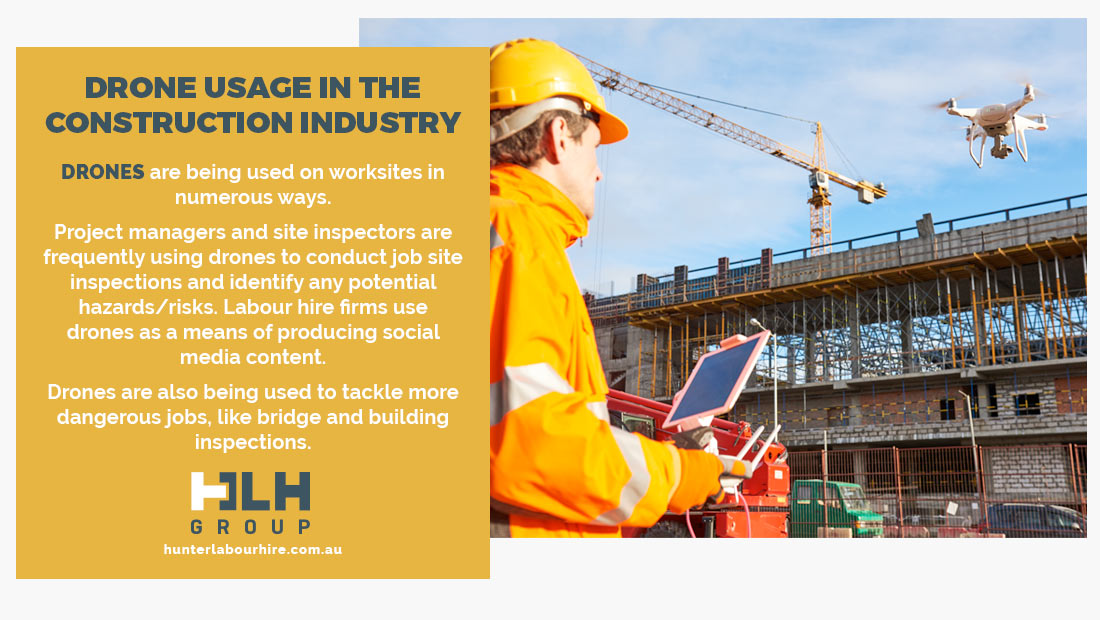 Drone Usage in Construction Industry - HLH Group - Labour Hire Sydney