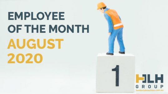 Employee of the Month Labour Hire - August 2020 - HLH Group