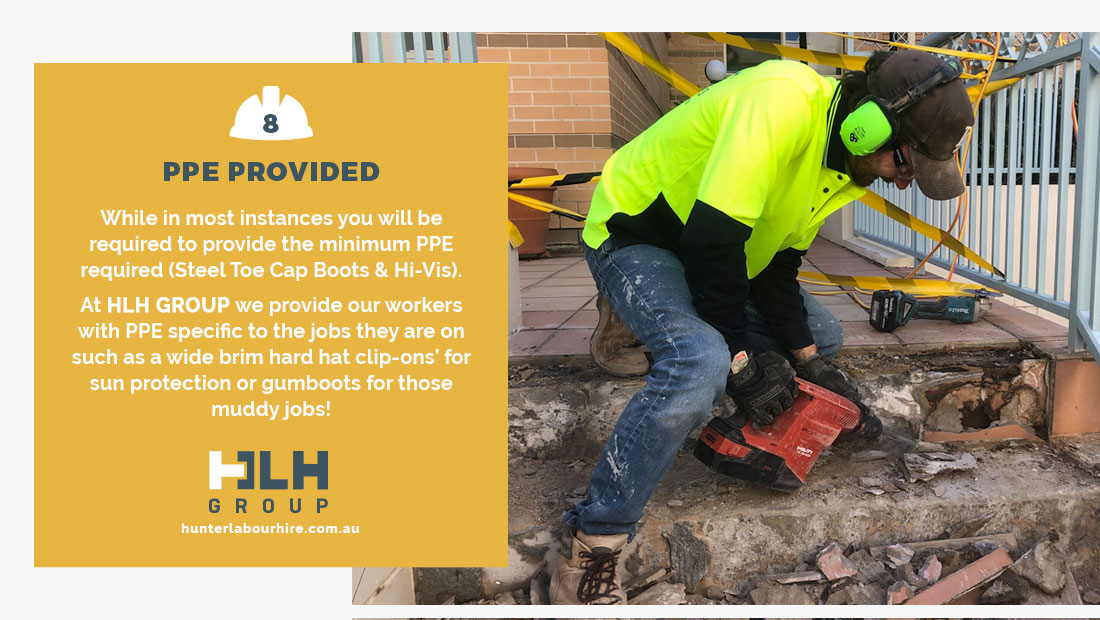 PPE Provided Labour Hire - HLH Hunter Labour Sydney