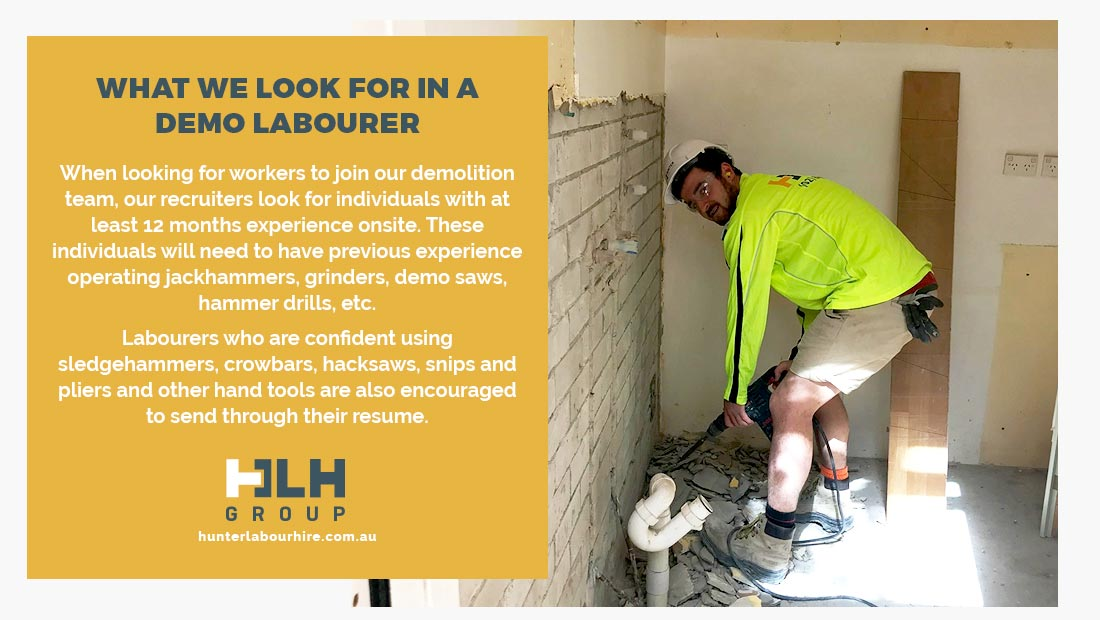 Hiring Demo Labour - HLH Group Sydney