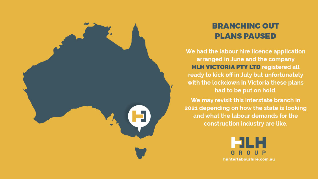 Branching Out Plans Paused - HLH Group Victoria
