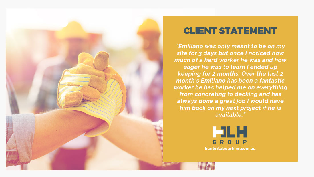 Employee of the Month - Client Review - HLH Group Sydney