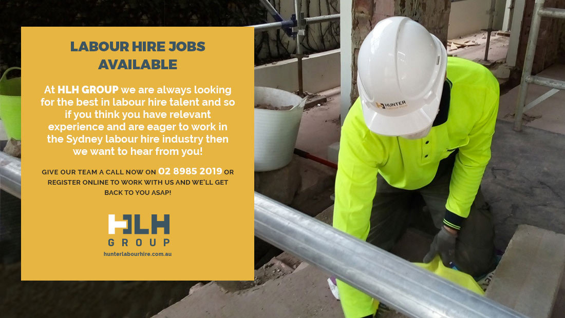Labour Hire Jobs Available Sydney January 2021 - HLH Group