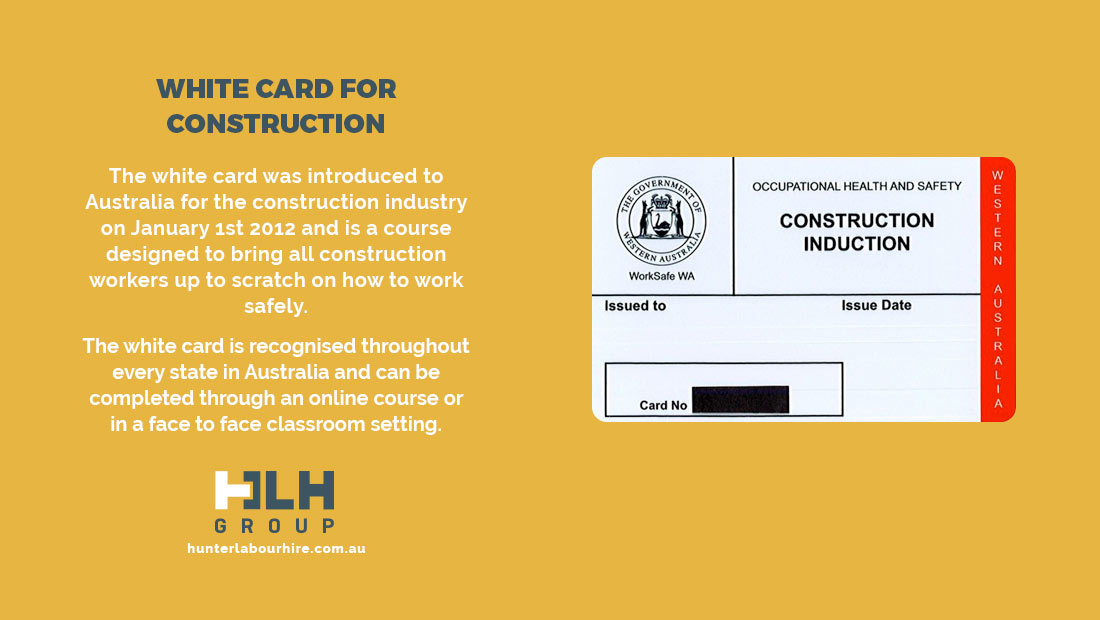 White Card For Construction - HLH Hire Group - Sydney