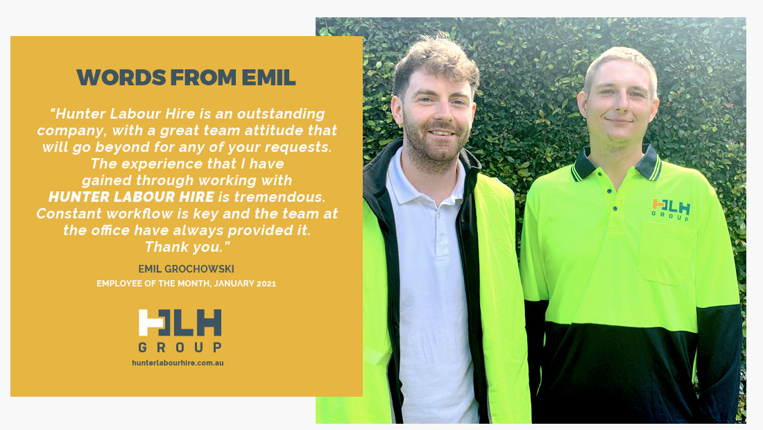 Employee of the Month - Emil Grochowski - Hunter Labour Hire Sydney