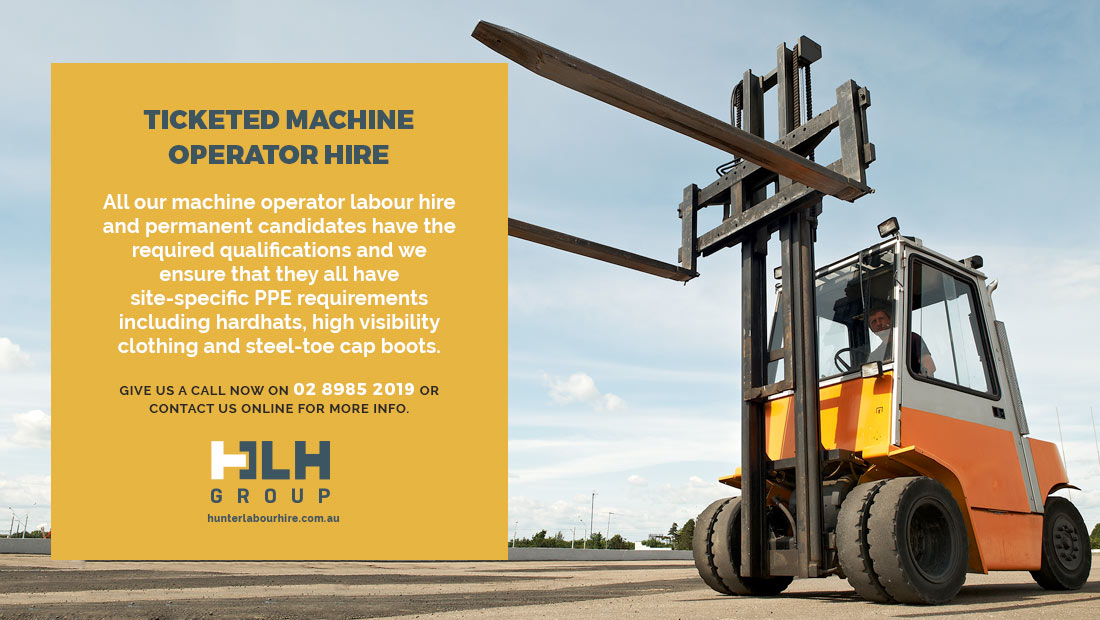 Ticketed Machine Operator Hire Sydney - HLH Group