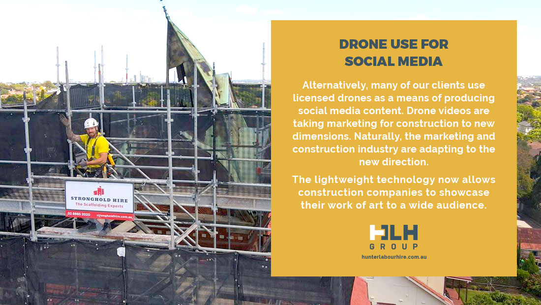 Drone Use for Social Media Content - HLH Marketing Sydney