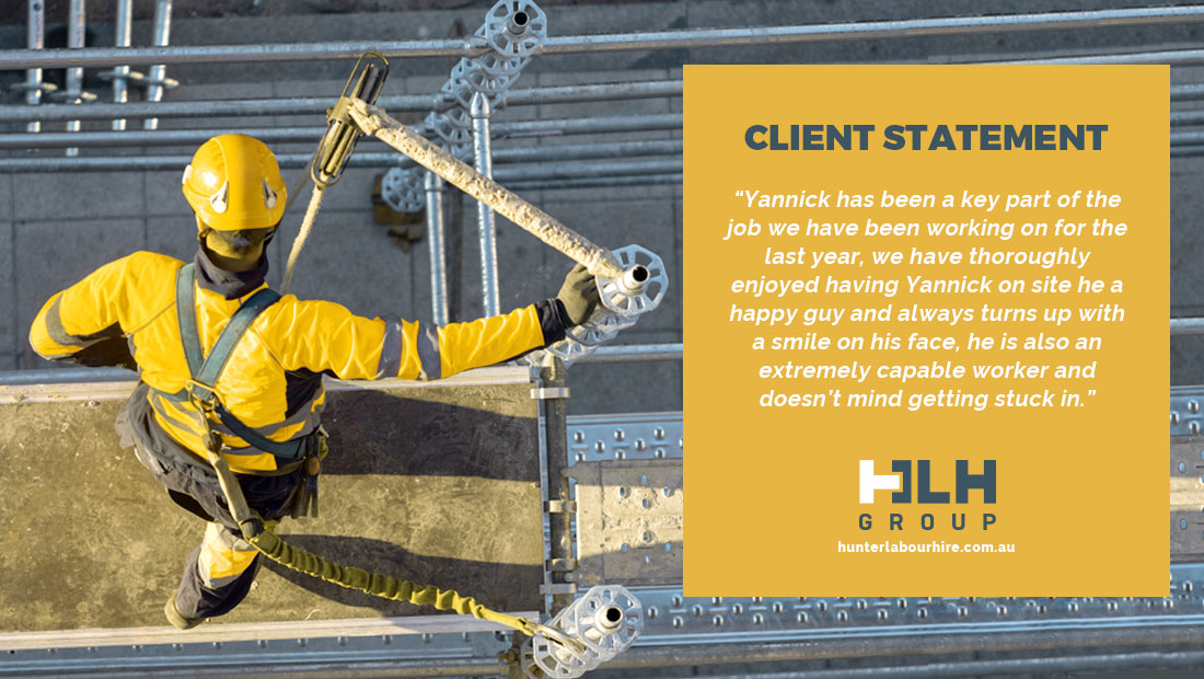 Client Statement - Employee of the Month April - HLH Group Sydney