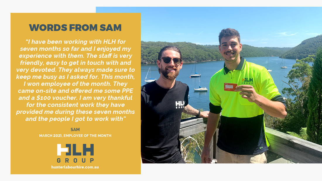 Employee of the Month - Sam March 2021 - HLH Group