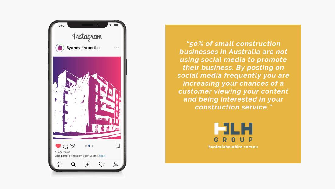 Marketing Construction Business Australia - Social Media Promotion - HLH Marketing