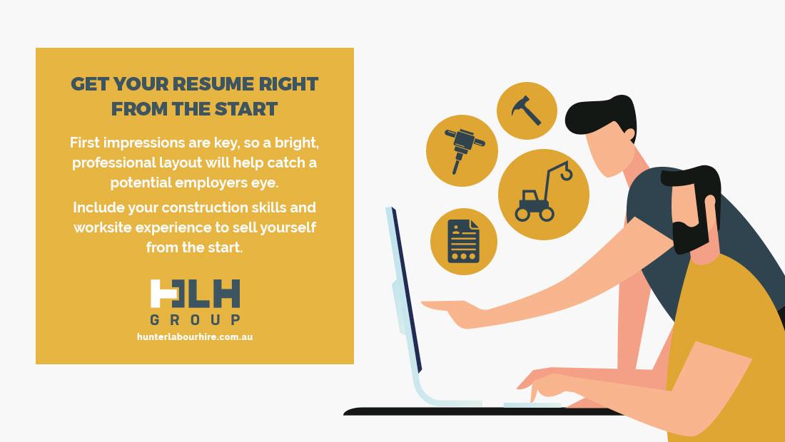 Resume for Construction Labourers - HLH Group Labour Hire Sydney