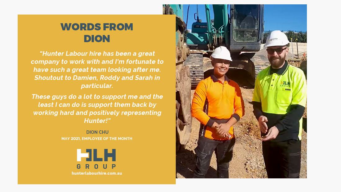 Employee Month May 2021 - Dion Chu - HLH Group Sydney