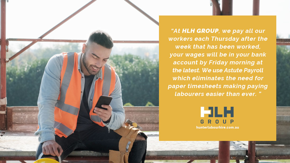 Payment Labour Wages HLH Group - Sydney