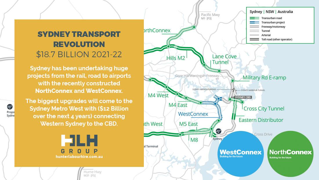 Sydney Transport Revolution Budget 2021-22 Northconnex Westconnex