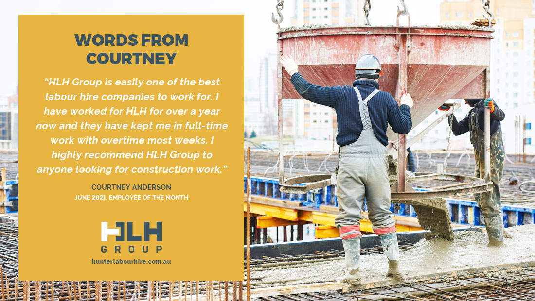 HLH Group - Labour Hire - Employee Month June - Courtney Anderson