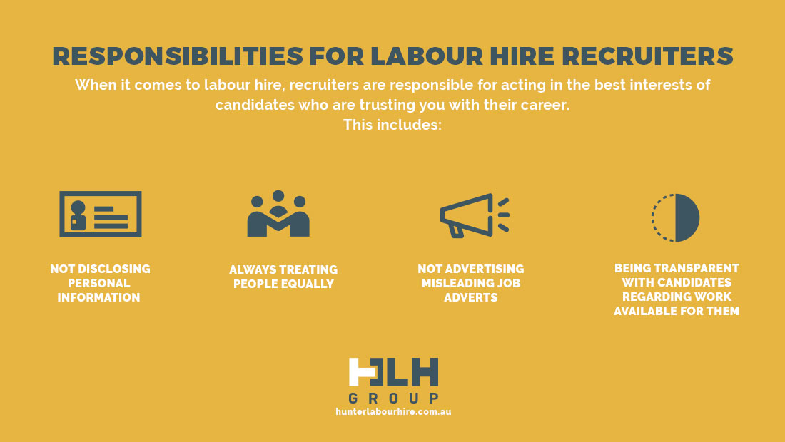 Responsibilities Labour Hire Recruiters - HLH Group