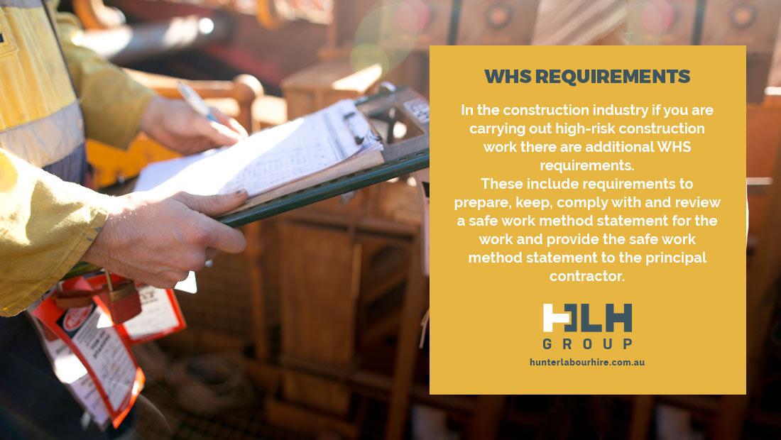 WHS Requirement Construction Site - Labour Hire Sydney