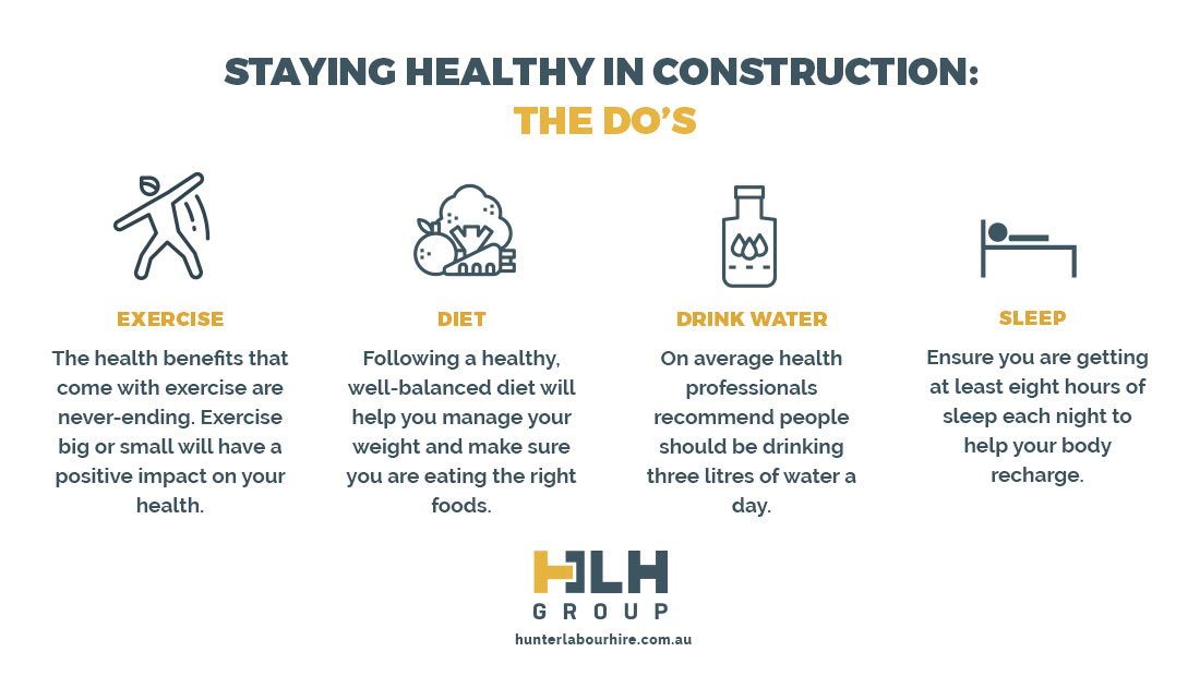 Staying Healthy Construction - Labour Hire Sydney
