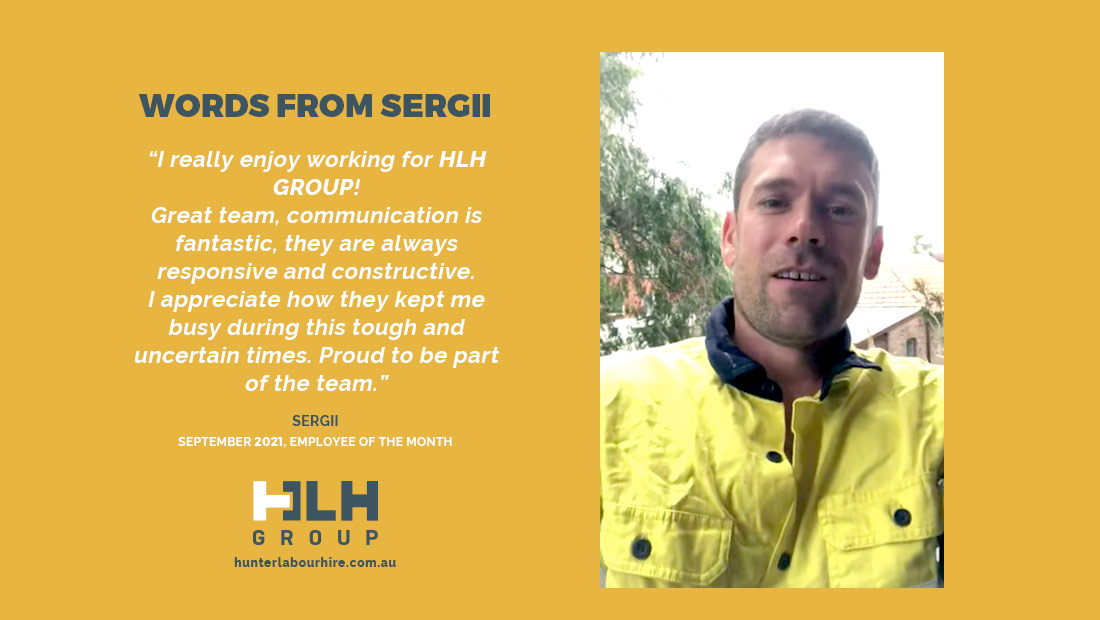 Employee of the Month September Sergii - HLH Group Sydney