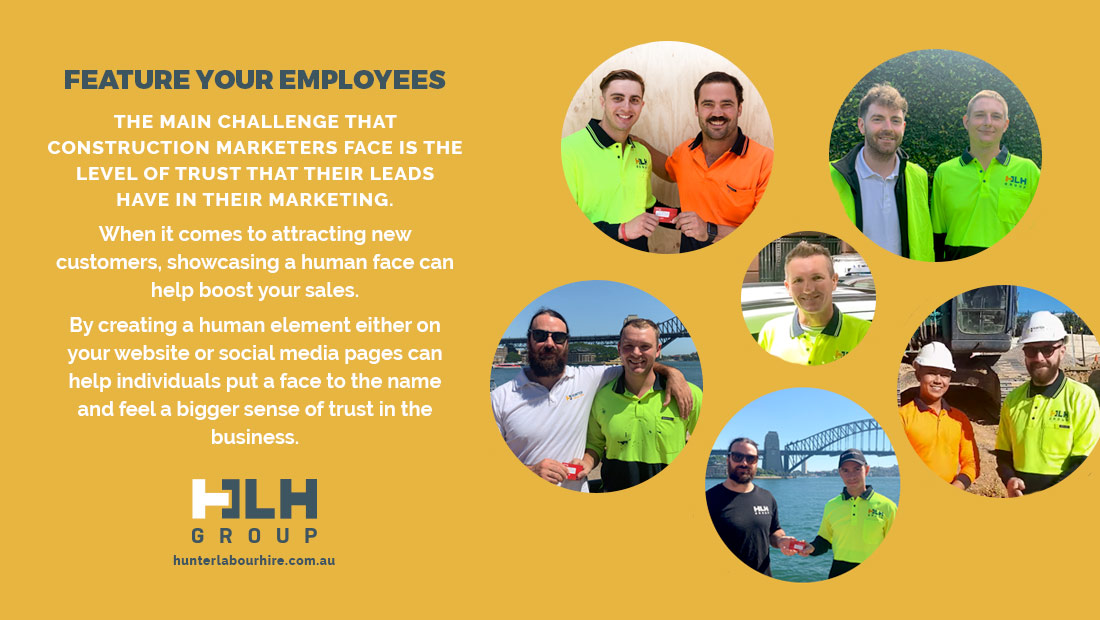 Feature Your Employees - HLH Marketing Sydney